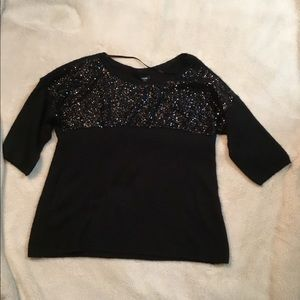 Apt 9 sweater with sequins, black XL